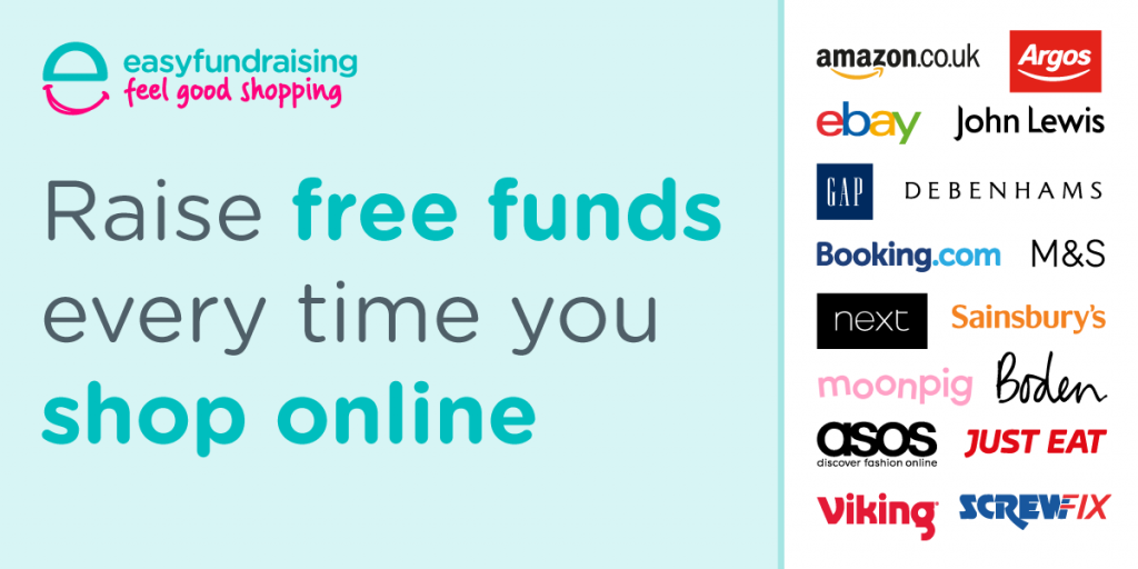 Use easyfundraising to donate every time you shop!
